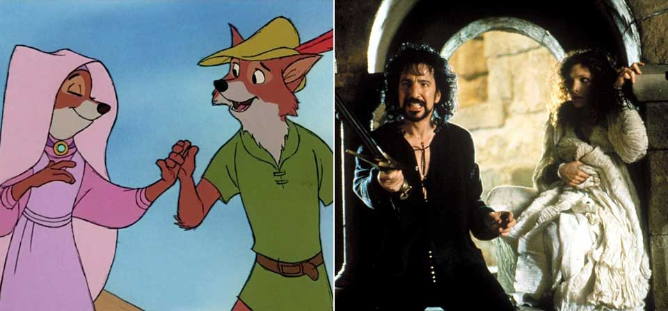Alan Rickman, Brian Bedford, and their Robin Hood movies